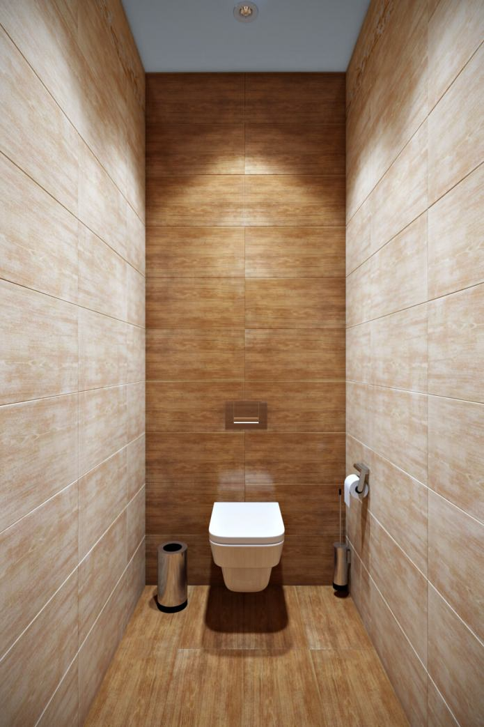 туалет в современном оформлении квартиры