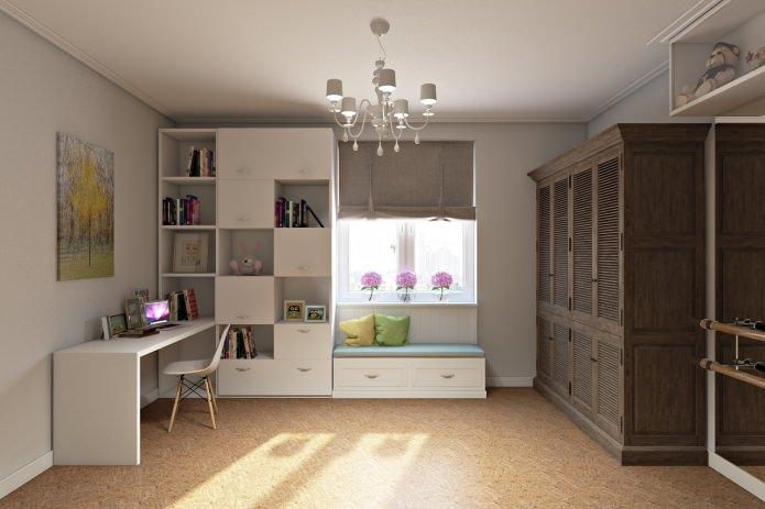 детская комната в интерьере 4-комнатной квартиры