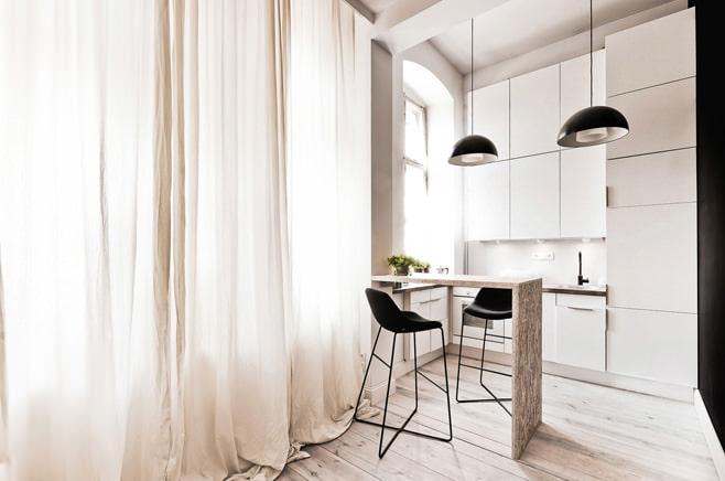 Дизайн интерьера студии спальня