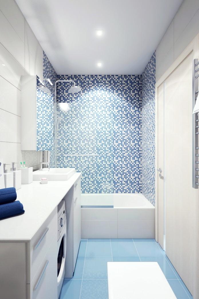 Ванна вдоль дизайн