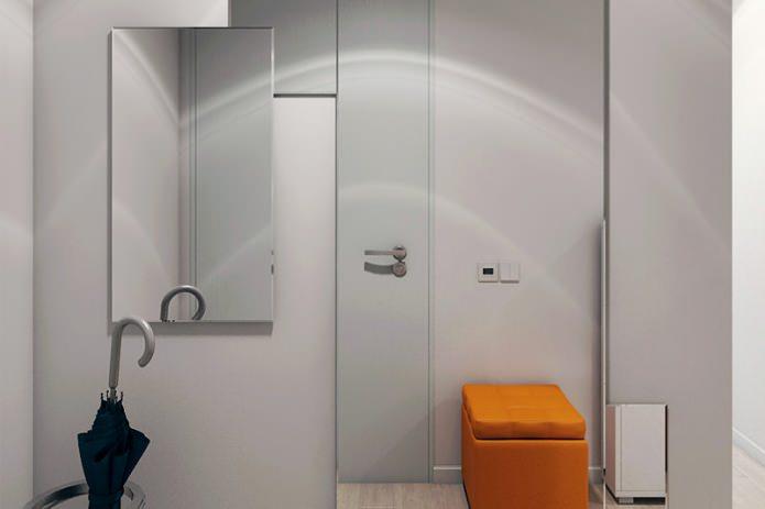 прихожая в интерьере 2-комнатной квартиры