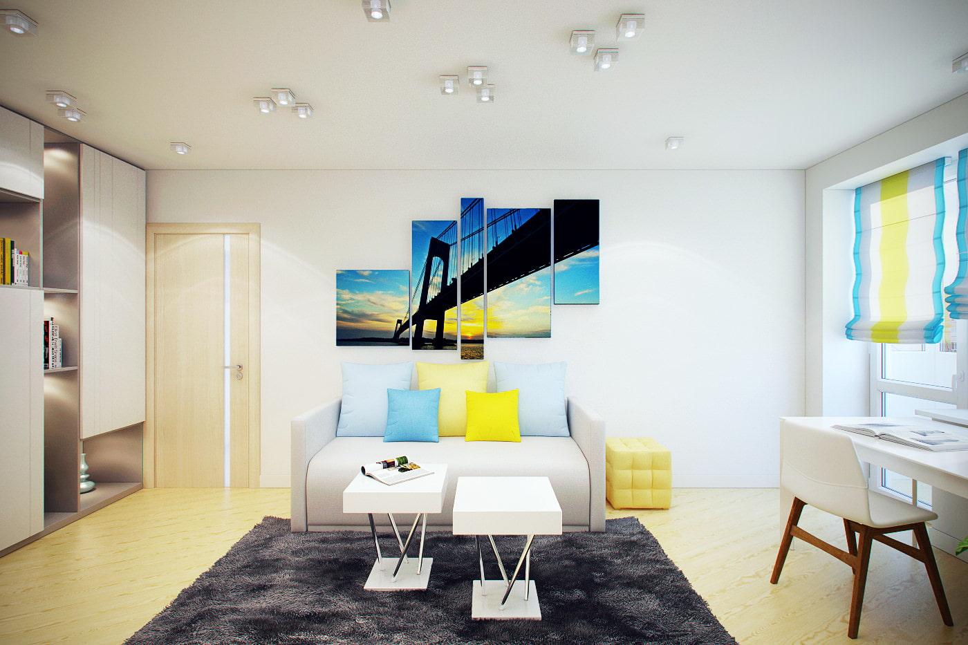 Дизайн маленькой 2 комнатной квартиры