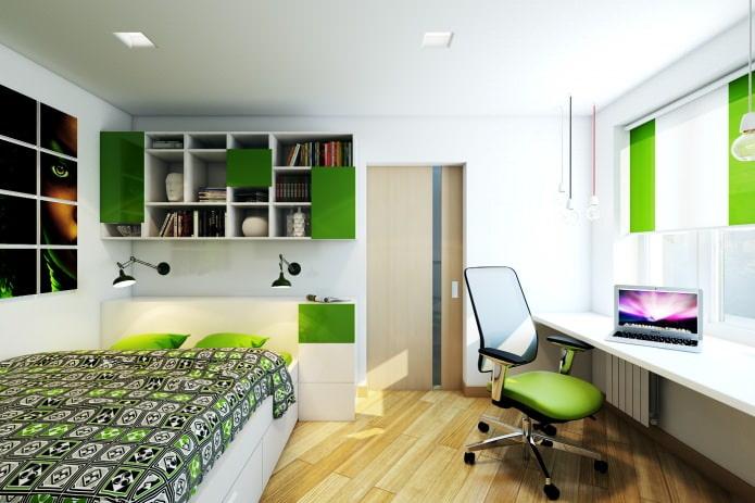 спальня в дизайне двухкомнатной квартиры в панельном доме