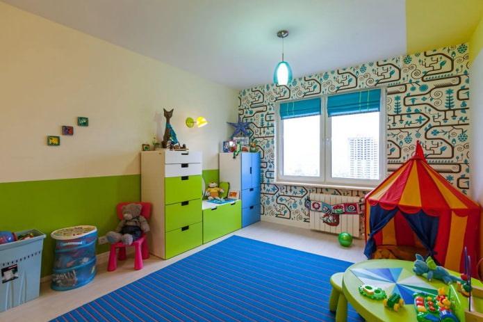 обои в детскую комнату для мальчика