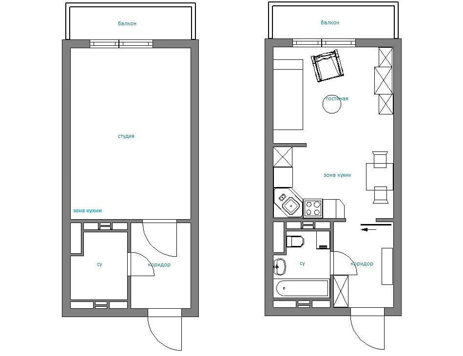 Дизайн квартир по размерам