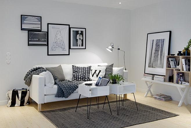 Фото гостиной в скандинавском стиле
