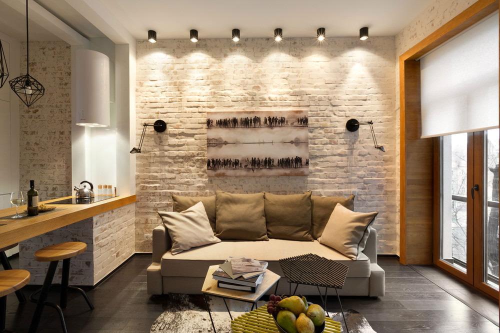 Дизайн лофт в квартире фото
