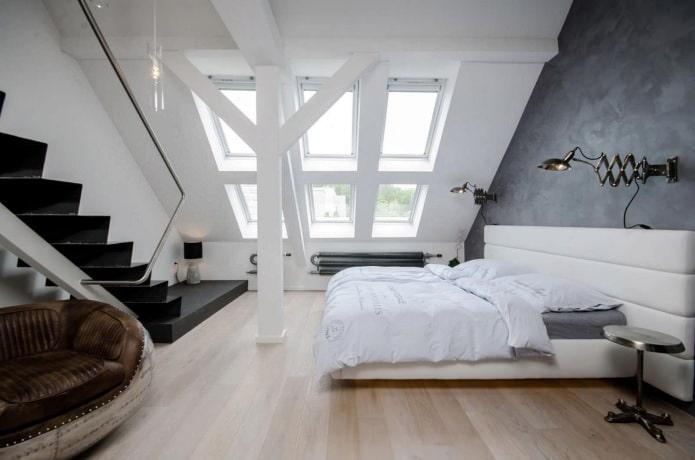 лофт в спальне