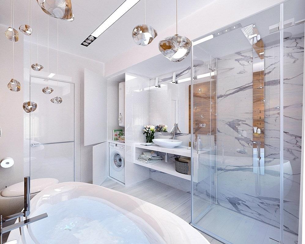 Дизайн ванной комнаты 8 кв.м фото