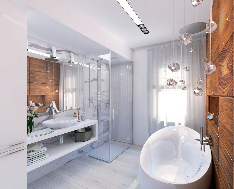 Дизайн ванны 8 кв.м.