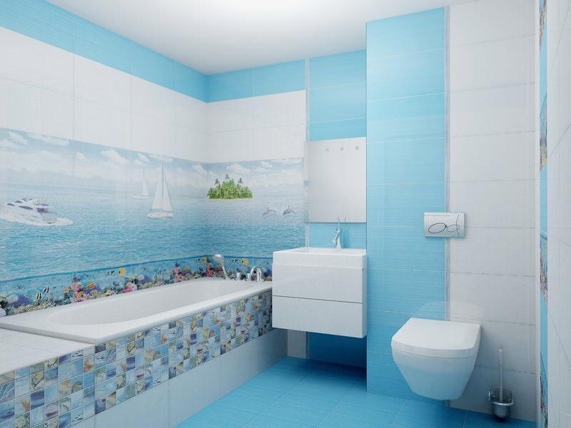 ванная в бирюзовых тонах фото