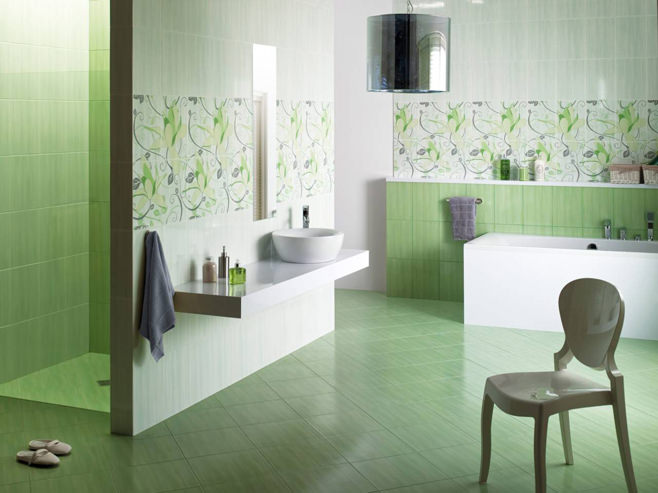 зеленые ванные комнаты фото