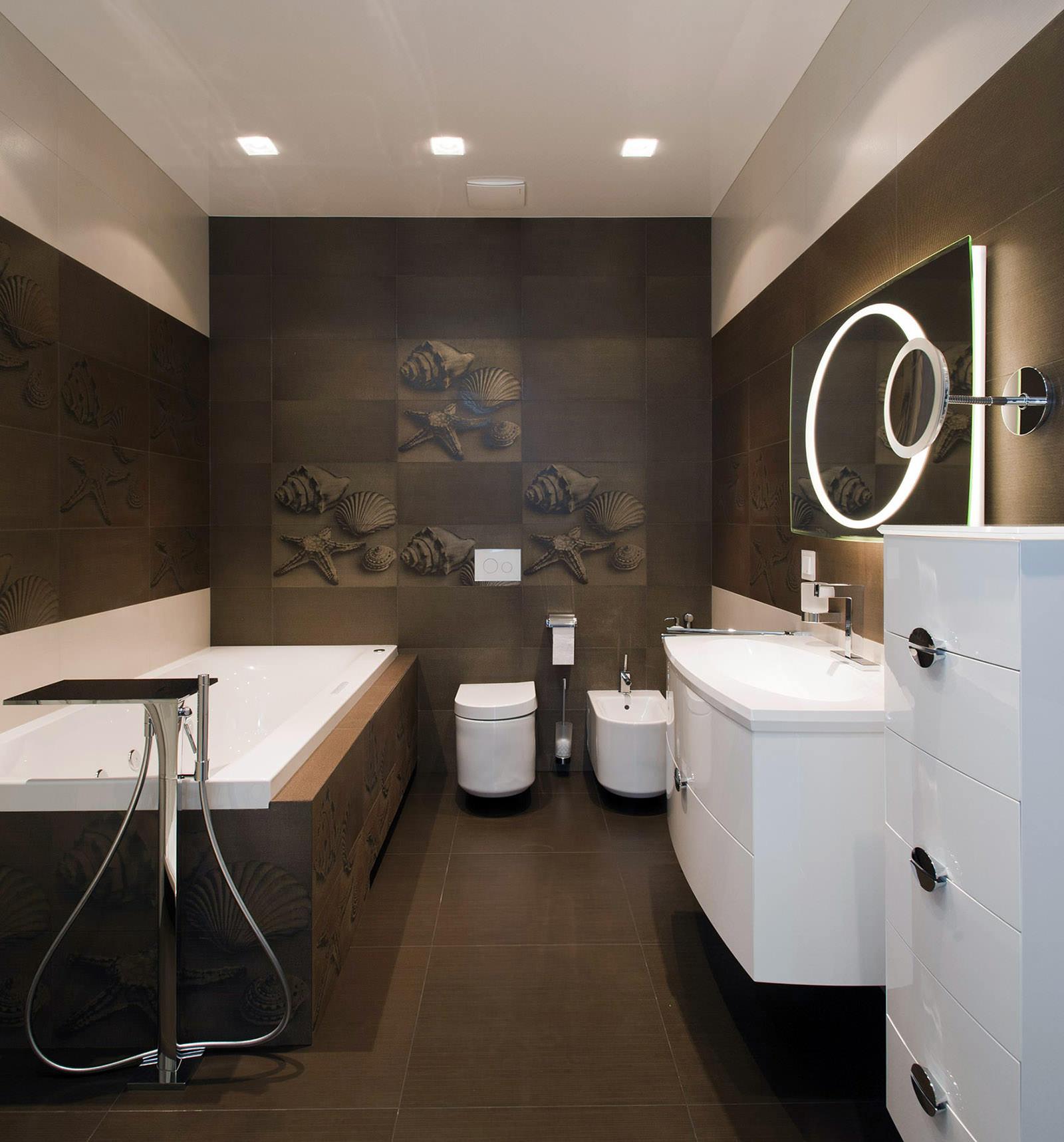 Ванная комната с венге Поддон для душа GuteWetter Deluxe 100x100x4 P черный