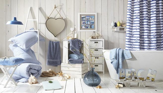 Морской стиль в оформлении ванной комнаты