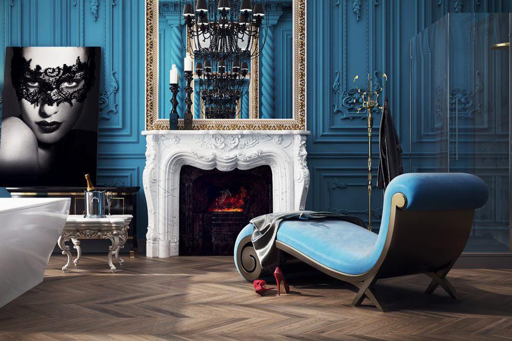 Роскошная ванная комната в стиле барокко Роскошные Дома в Стиле Барокко
