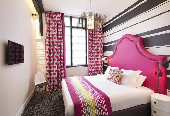 Дизайн розовой спальни фото