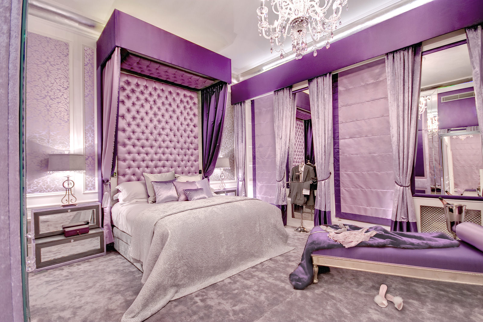 Shabby chic purple bedroom