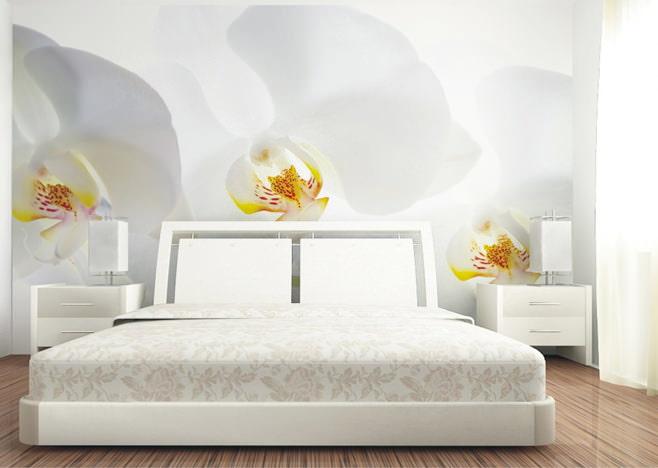 Интерьер спален с фотообоями