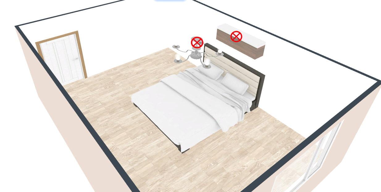 как разместить кровать в спальне