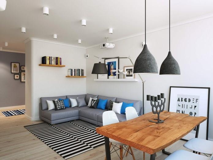 Проект современного дизайна квартиры 90 кв. м.