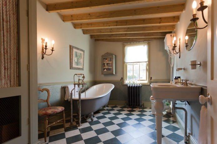 Ванная комната в стиле кантри: особенности, фото
