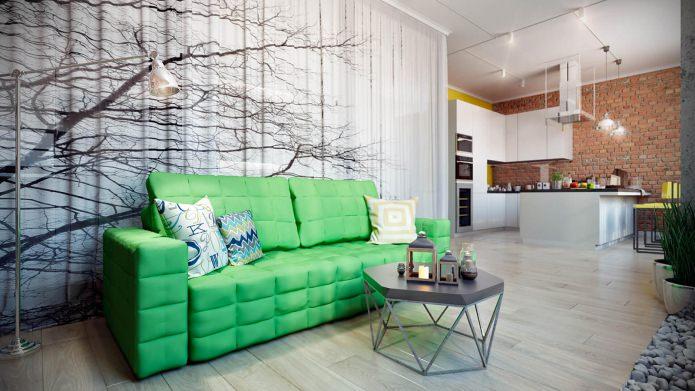 Дизайн стильной современной квартиры 67 кв. м.