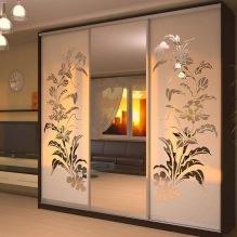 Варианты дизайна фасадов дверей шкафа-купе-4