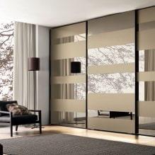 Варианты дизайна фасадов дверей шкафа-купе-8