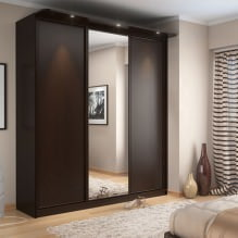 Варианты дизайна фасадов дверей шкафа-купе-11