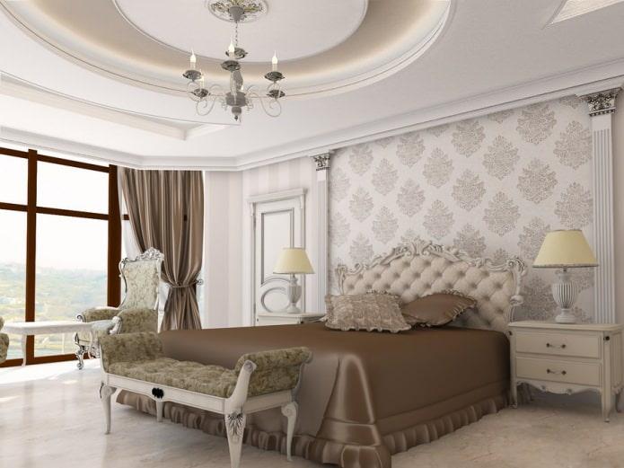 Интерьер спальни в классическом стиле: особенности, фото