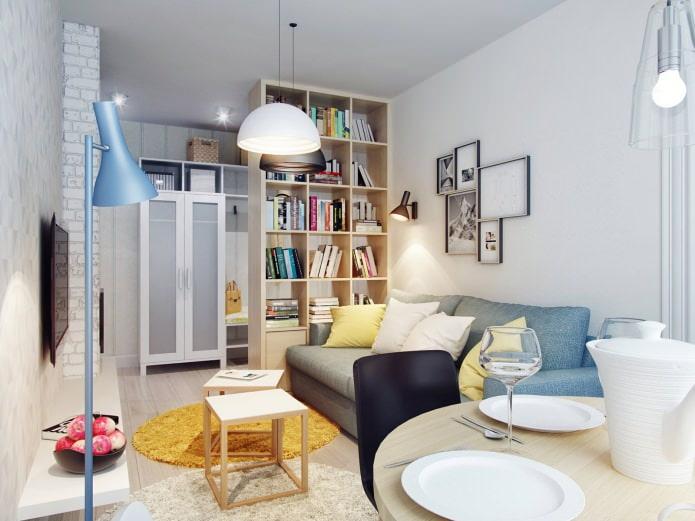 Проект дизайна трехкомнатной квартиры 60 кв. м.