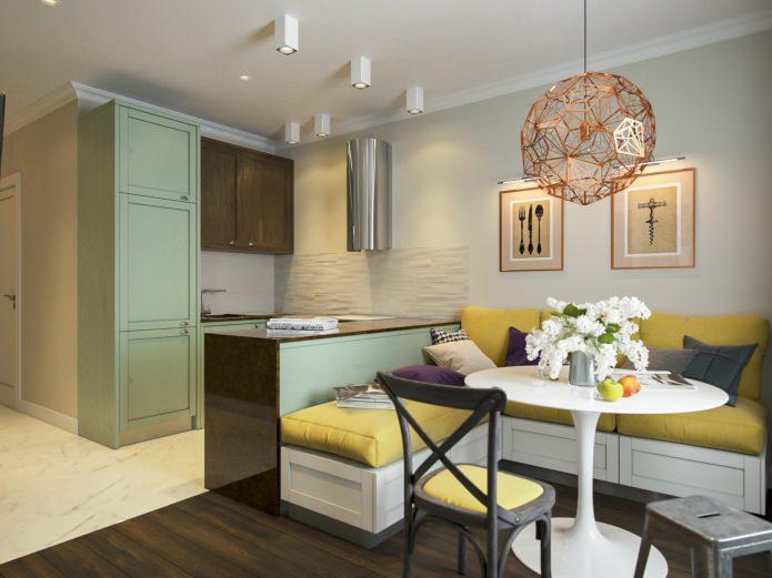 Проект от студии Aiya Lisova Design: дизайн квартиры 53 кв. м.