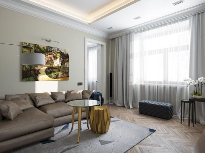 Дизайн квартиры 77 кв. м. в стиле современной классики