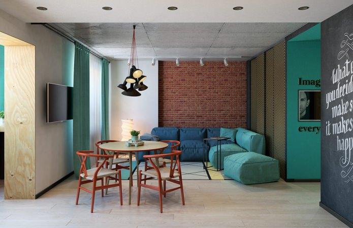 Проект в Краснодаре: дизайн двухкомнатной квартиры с барной стойкой на балконе