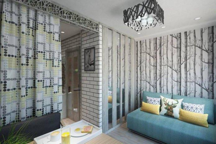 Дизайн квартиры 14 кв. м. – компактное решение в современном стиле