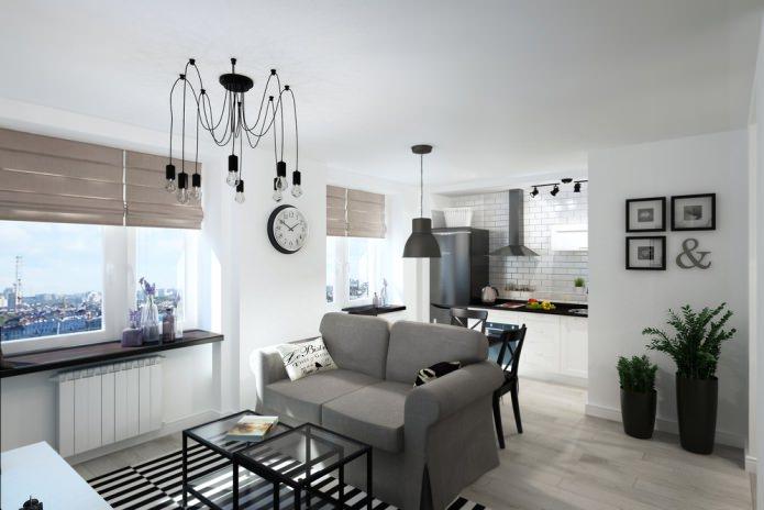 Квартира-студия 33 кв. м: фунцкиональный и практичный интерьер