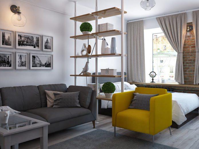 Дизайн однокомнатной квартиры-распашонки 37,5 кв. м.