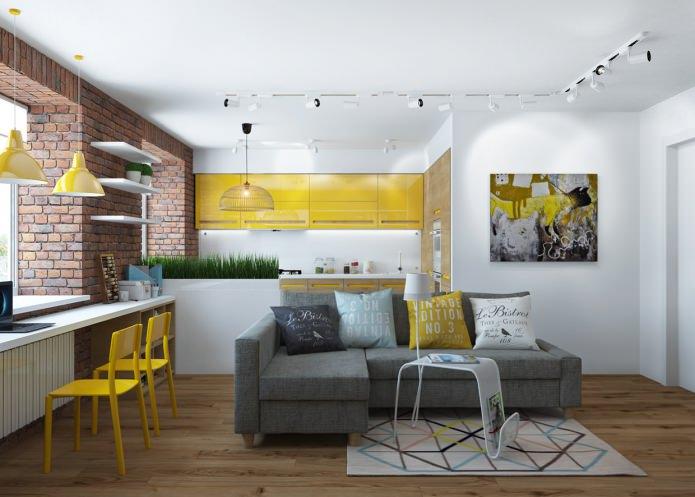 Дизайн квартиры 65 кв. м: 3D визуализация от Юлии Черновой