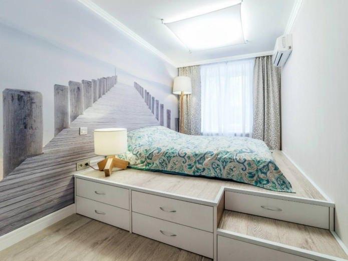 Кровать-подиум – компактное и функциональное решение для интерьера