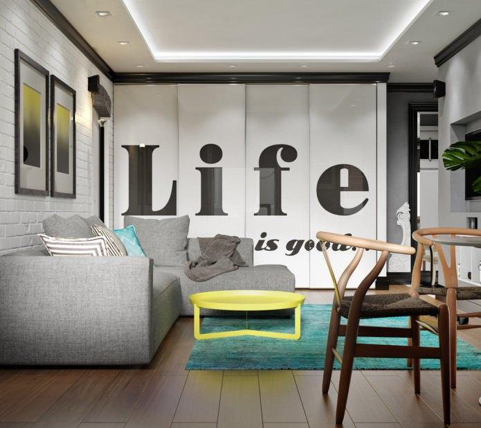 Дизайн квартиры в хрущевке: компактный проект в скандинавском стиле