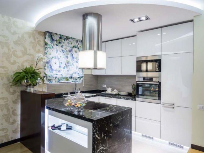 Gipskartondecken in der Küche