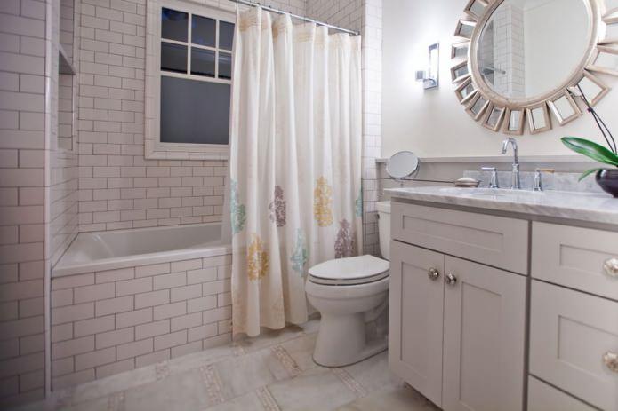 Шторки для ванной комнаты: виды, материалы, способы крепления
