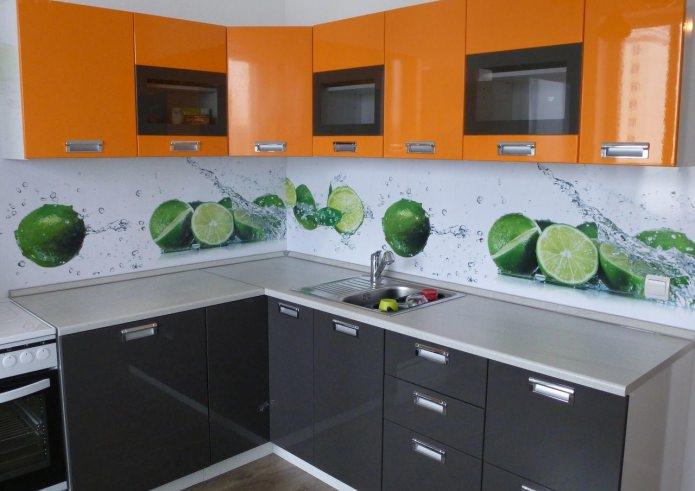 Кухонный фартук из пластика: виды, варианты дизайна, фото
