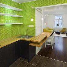 Зеленый в интерьере: сочетания, оттенки зеленого, 50 фото