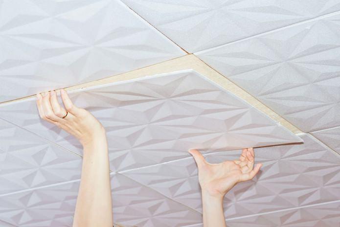 Монтаж потолочной плитки: выбор материалов, подготовка, порядок работ