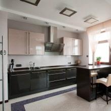Дизайн кухни с барной стойкой: 60 современных фото в интерьере - 46