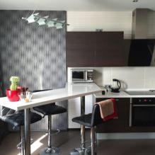 Дизайн кухни с барной стойкой: 60 современных фото в интерьере - 41
