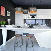 Дизайн кухни с барной стойкой: 60 современных фото в интерьере - 54