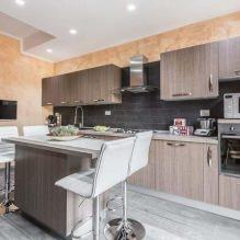 Дизайн кухни с барной стойкой: 60 современных фото в интерьере - 59