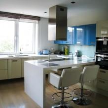 Дизайн кухни с барной стойкой: 60 современных фото в интерьере - 45